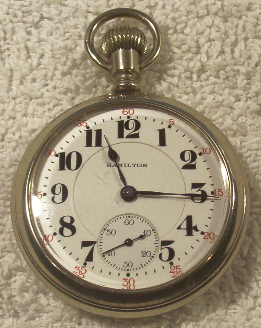 21 Jewel Hamilton Display Cased Railroad Watch