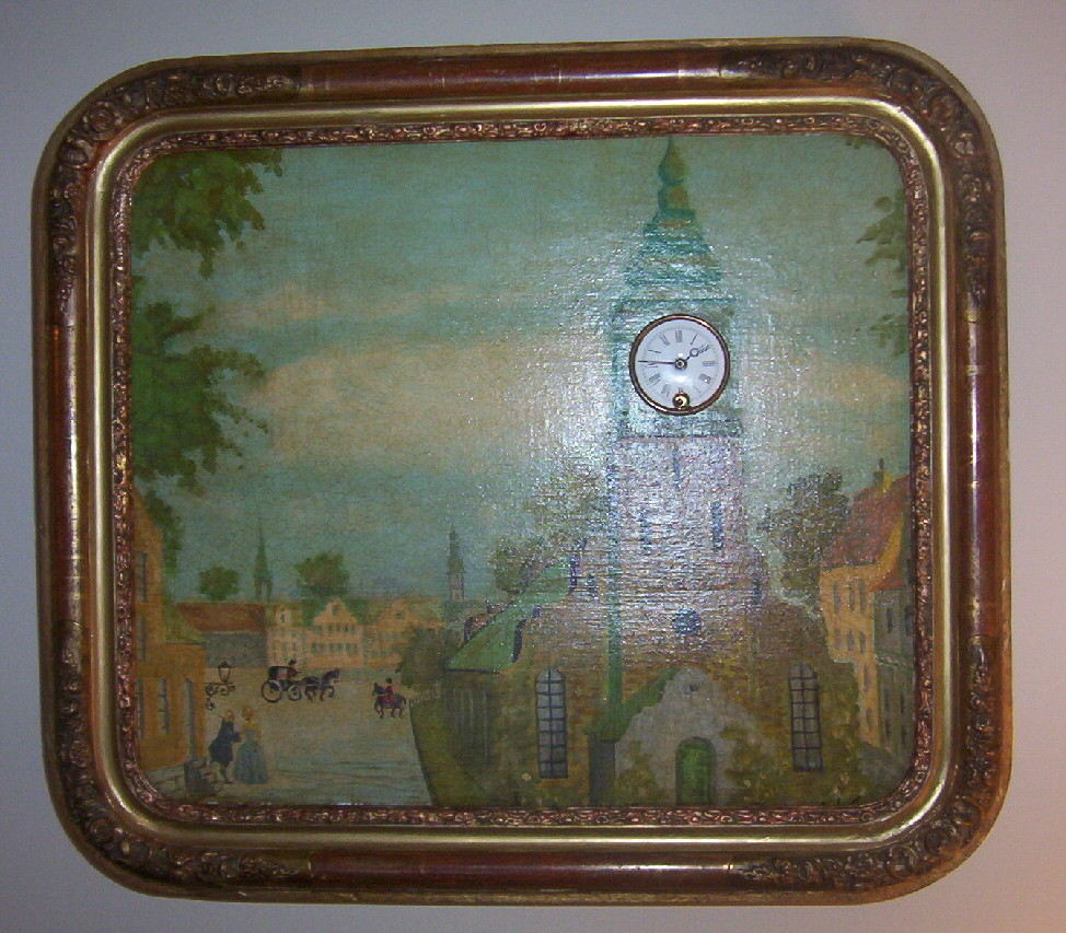 Picture Frame Clock with Music Box